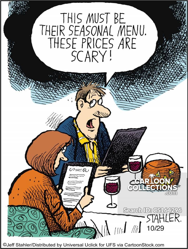 Pricey Menus cartoon
