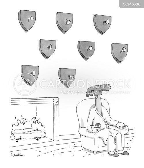 wall trophy cartoon