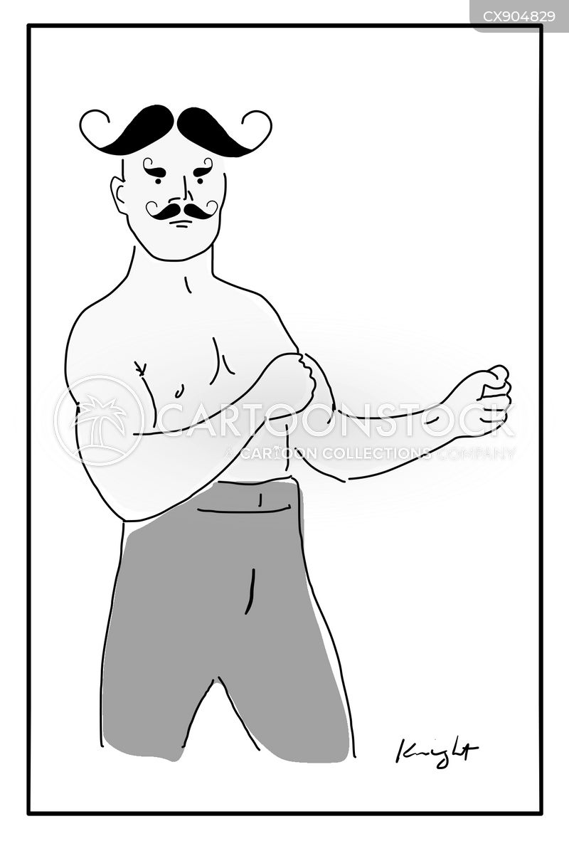 mustache cartoon