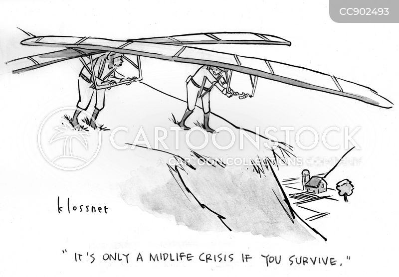 paragliding cartoon