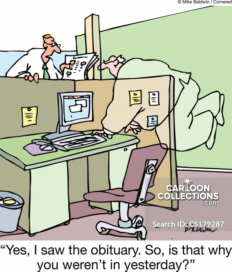 Dying At Work cartoon