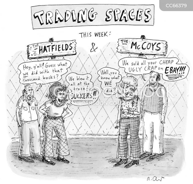 trading insults cartoon