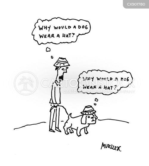 walking the dog cartoon