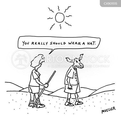 sunburn cartoon
