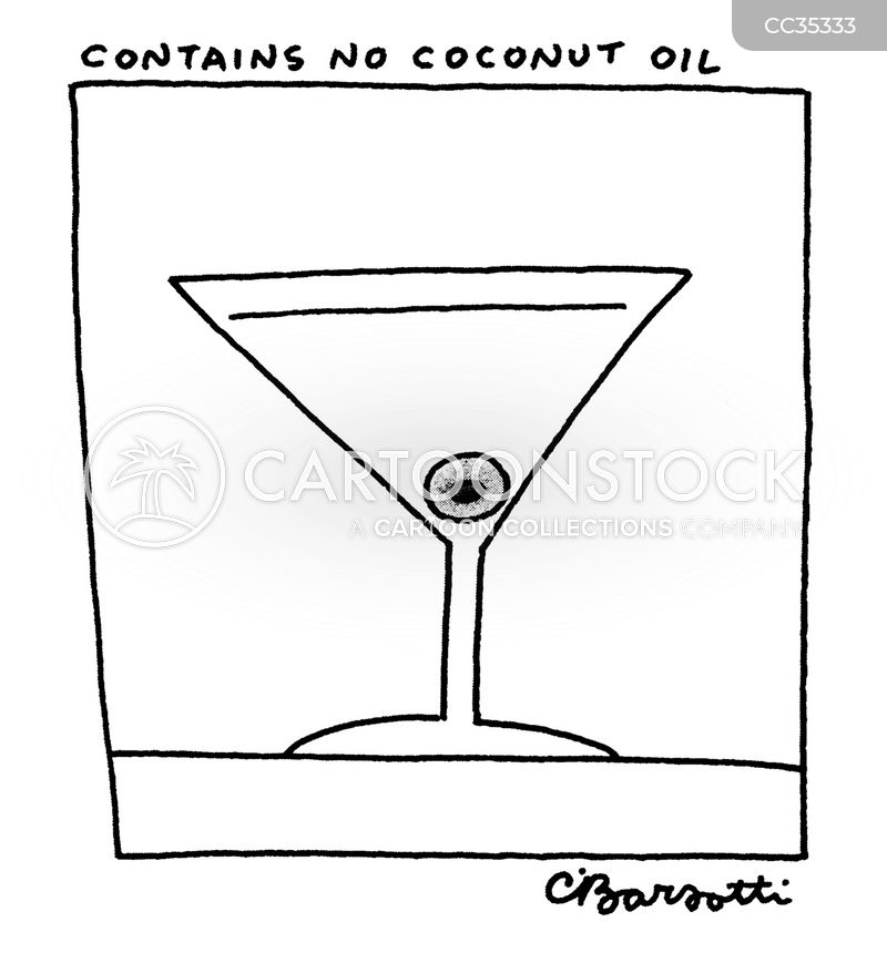 Coconut Oil cartoon