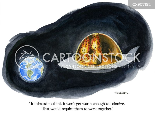 colonizing cartoon