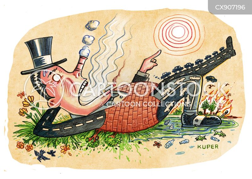 pollutes cartoon