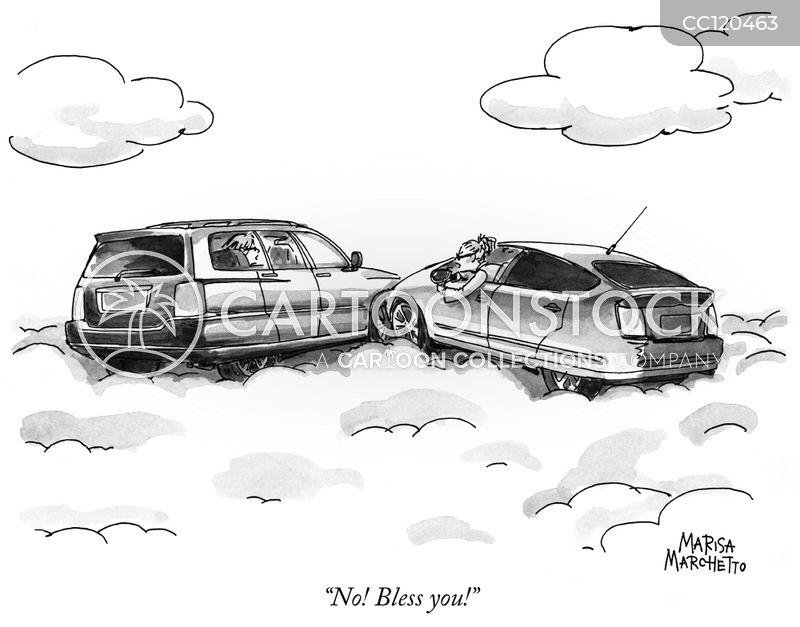 traffic accident cartoon