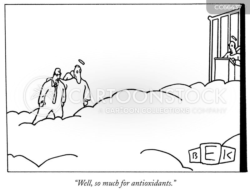 antioxidants cartoon