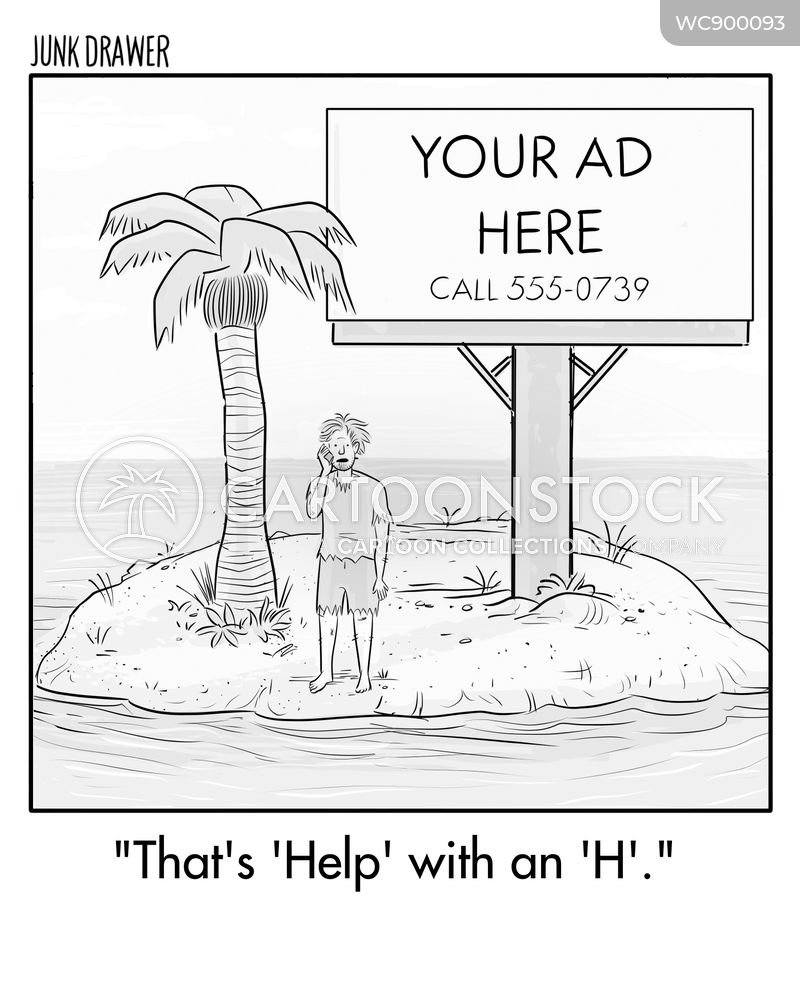 call for help cartoon