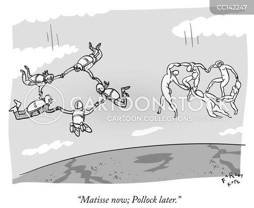 skydiving cartoon