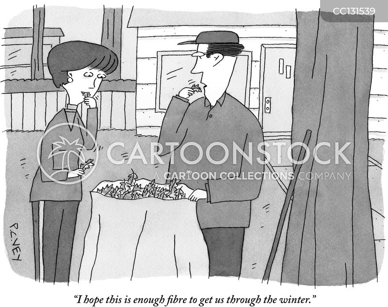 stockpiling cartoon