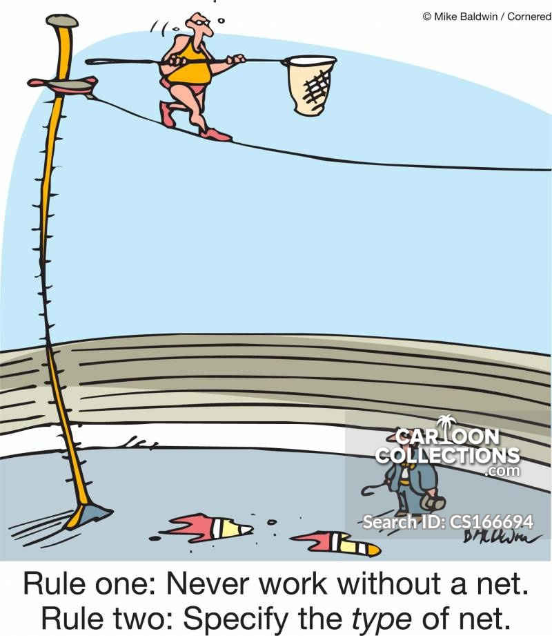 working without a net cartoon