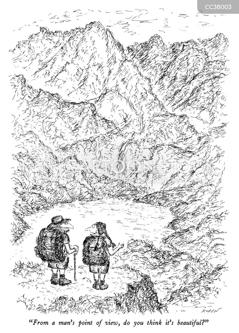 hikers cartoon