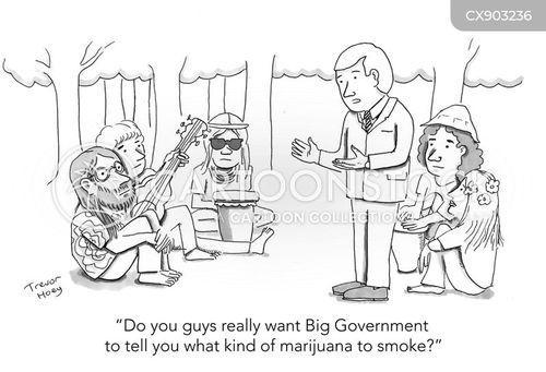hippy cartoon