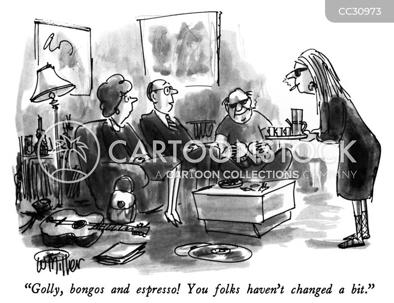 Coffeehouse cartoon