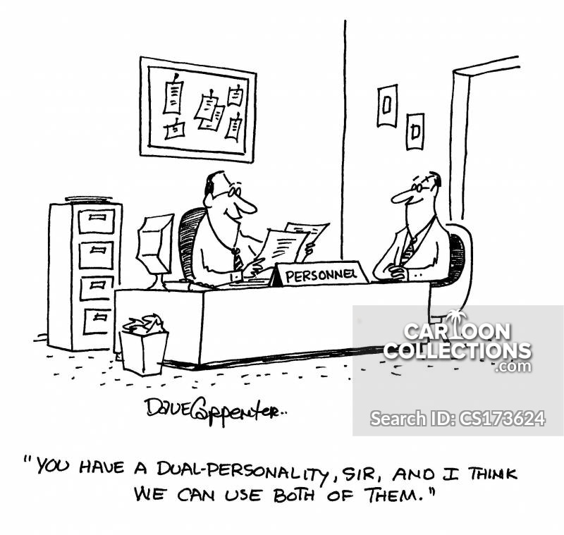 dual-personality cartoon