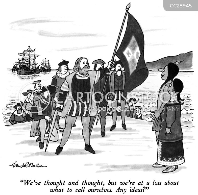 Indigenous Americans cartoon