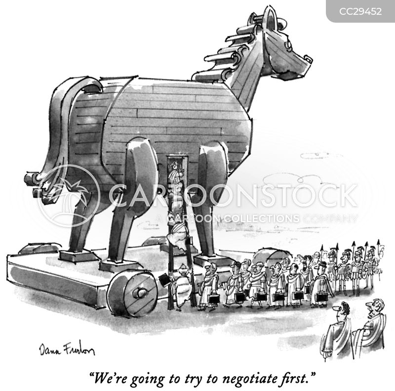 negotiate cartoon