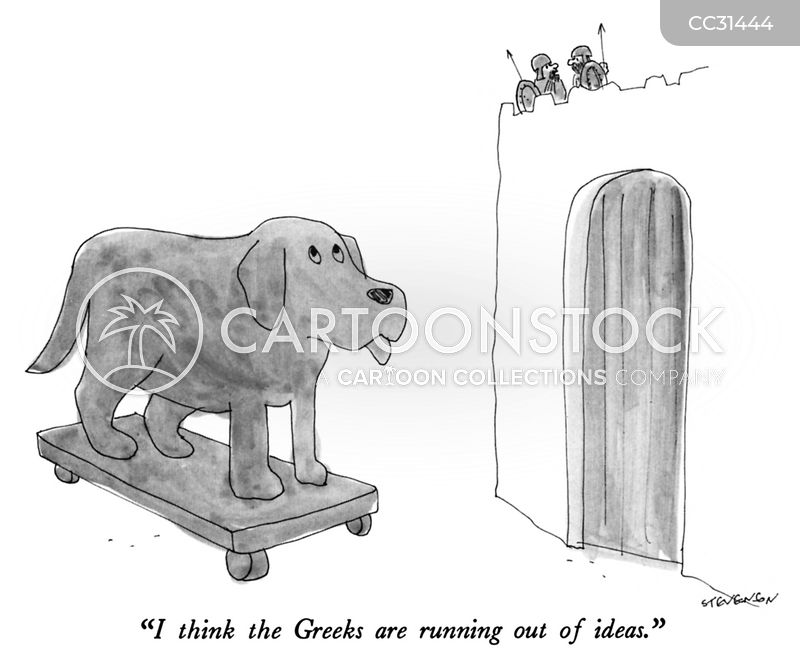 running out of ideas cartoon