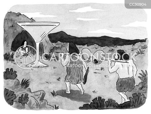 hunter-gatherer cartoon