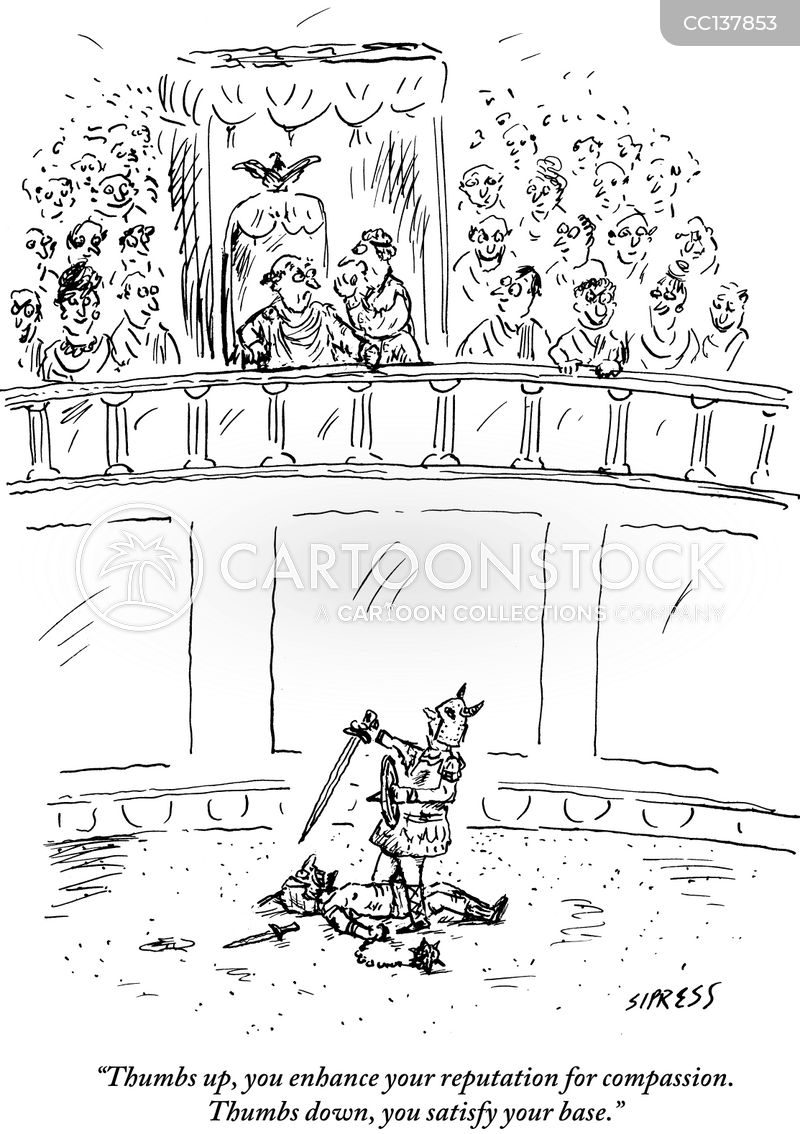 Amphitheatre cartoon