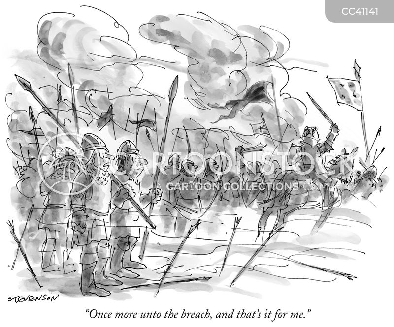once more unto the breach cartoon