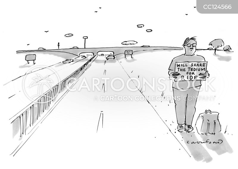 hitching cartoon