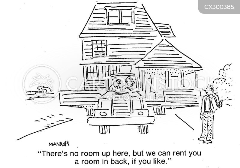 rent a room cartoon