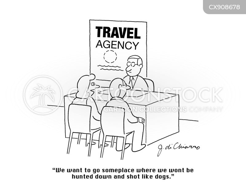 destinations cartoon