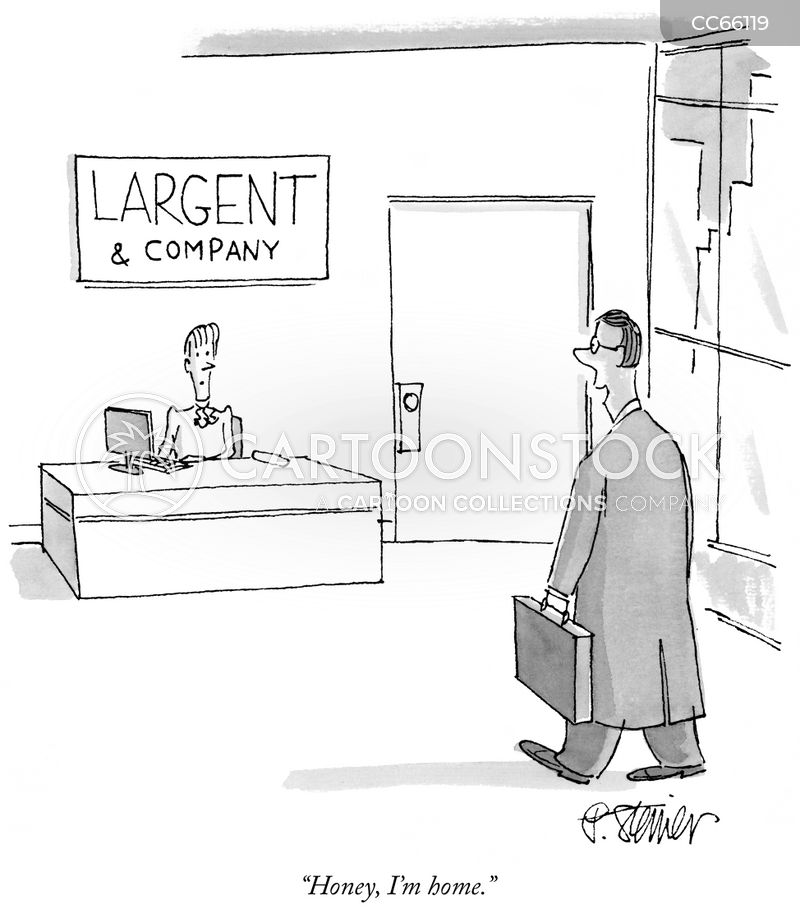 company man cartoon