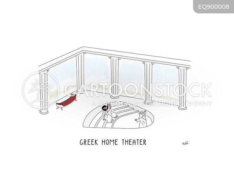 greek theatre cartoon