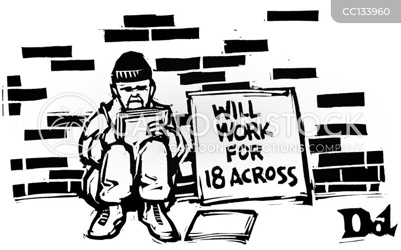 homeless cartoon