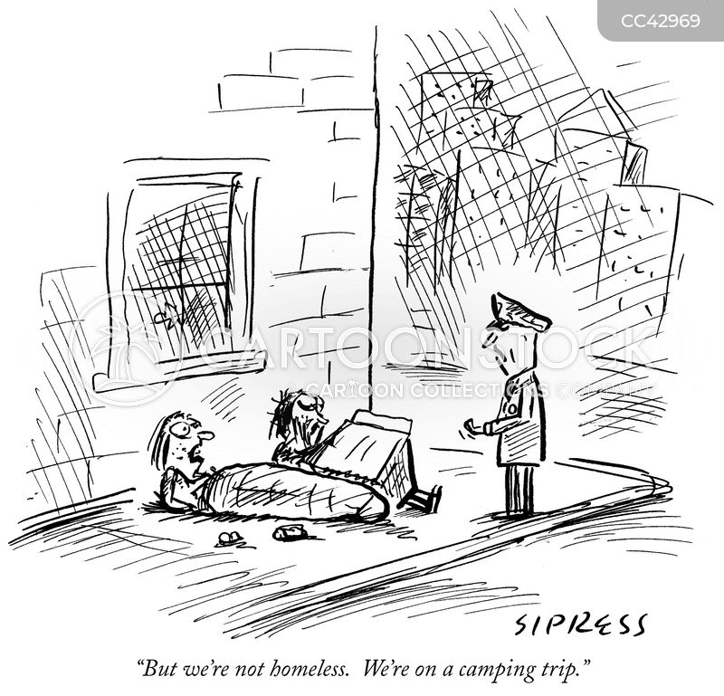 rough sleeper cartoon