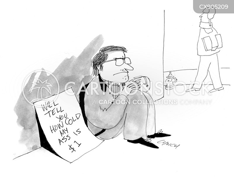 panhandling signs cartoon