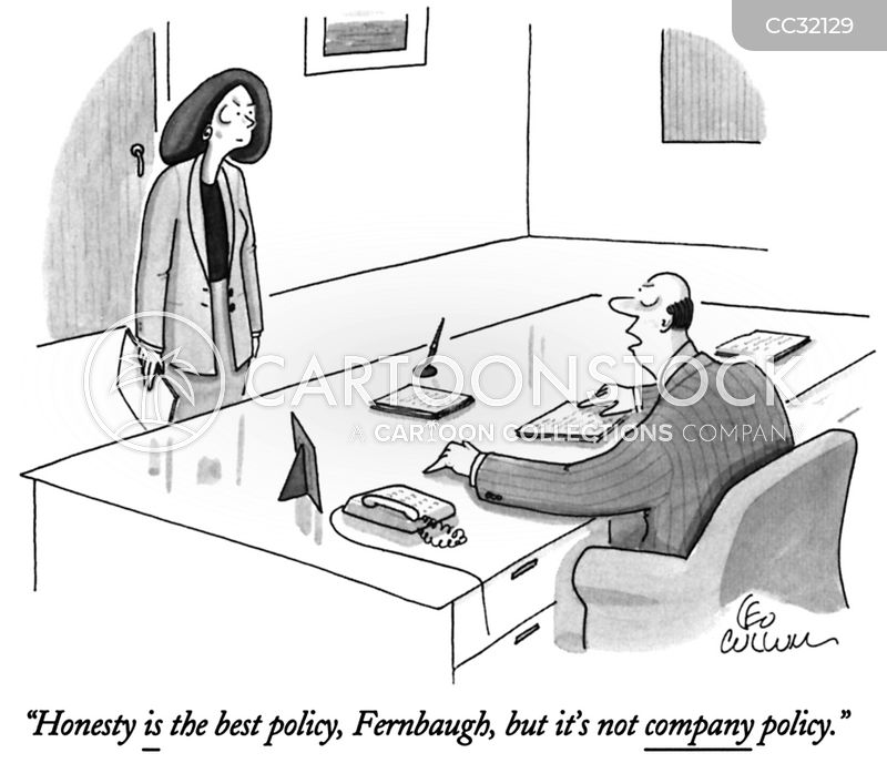 company policies cartoon