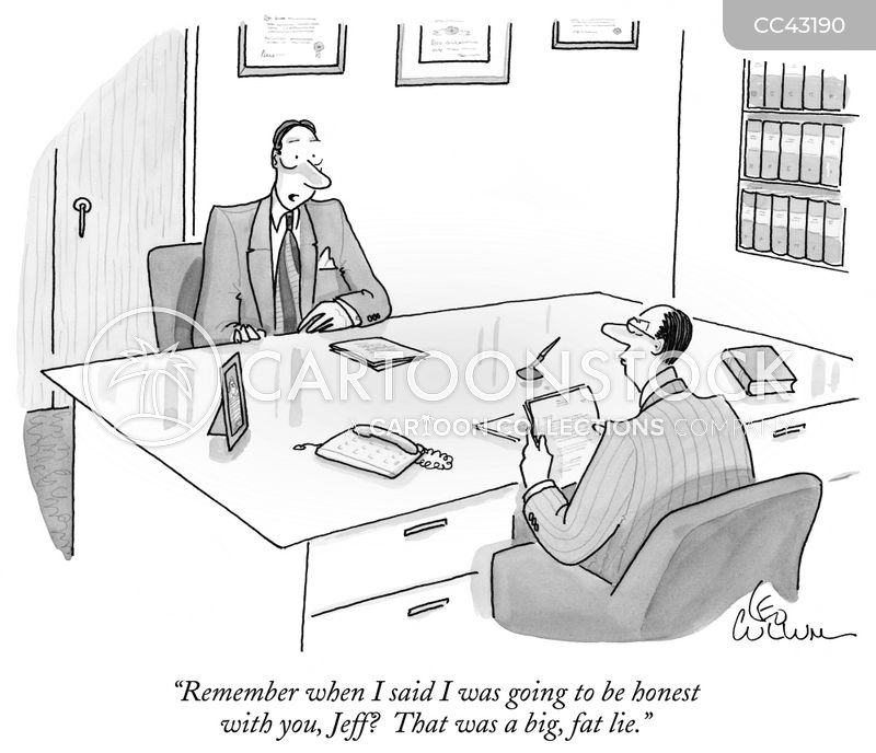 Honesty cartoon