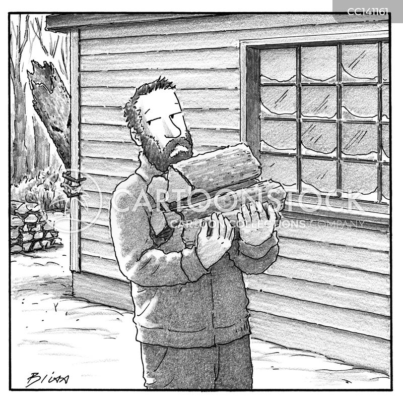 firewood cartoon