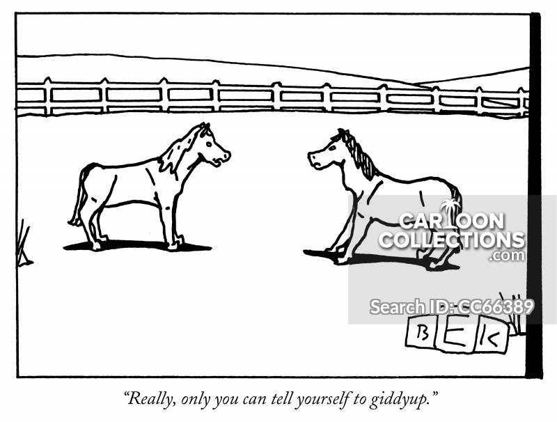 horses cartoon
