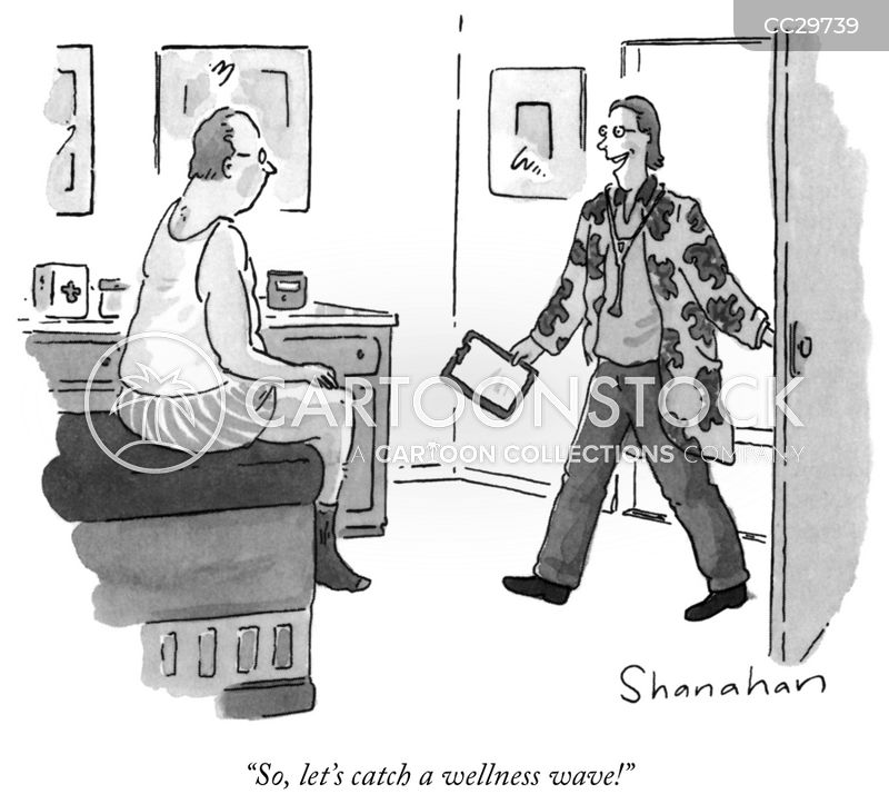 wellness cartoon
