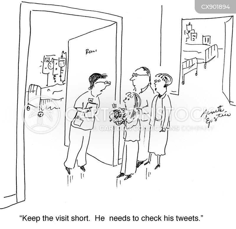 visits cartoon