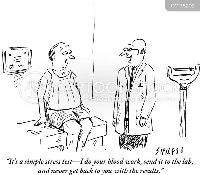 stressful cartoon
