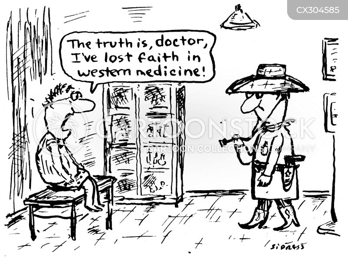 western medicine cartoon