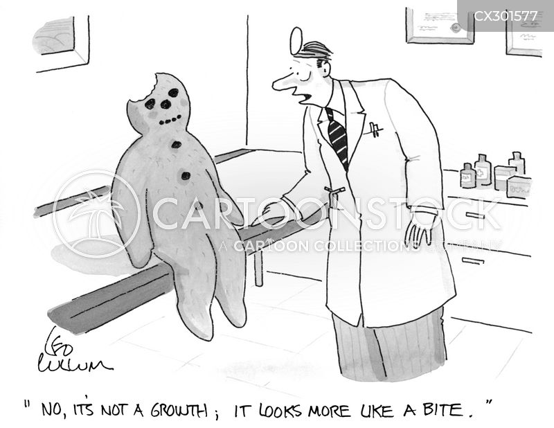bite marks cartoon