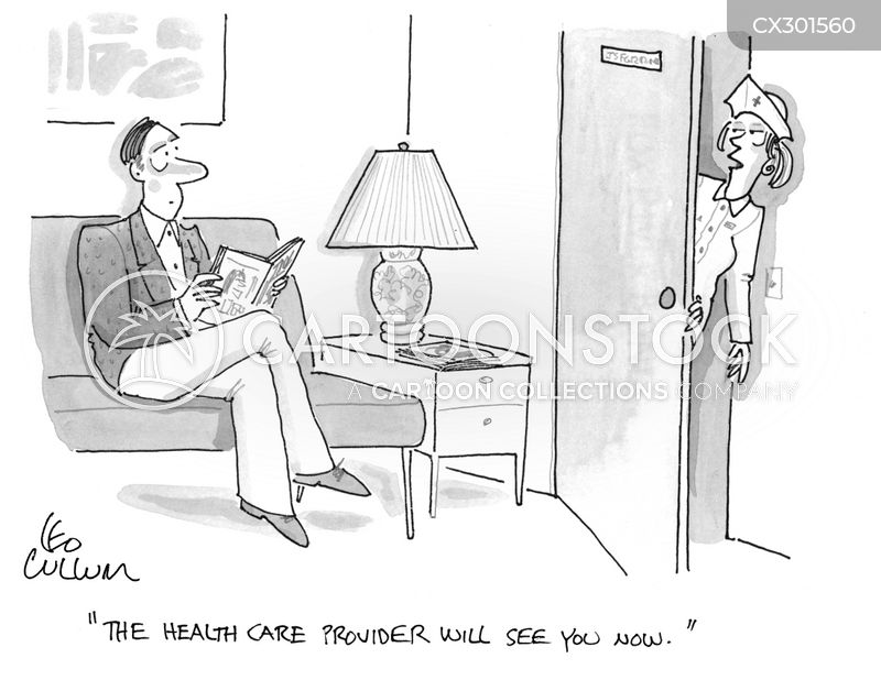 healthcare provider cartoon