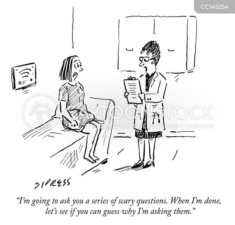 question cartoon