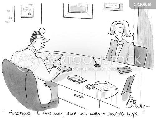 retail therapy cartoon