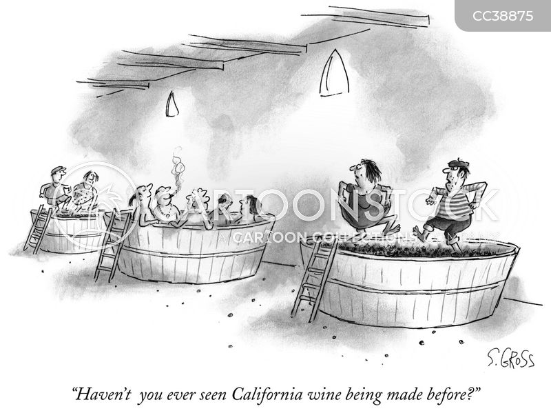 Wine Maker cartoon