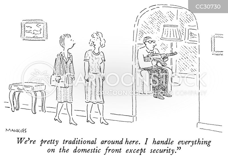 home security cartoon