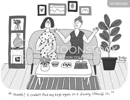 spring clean cartoon